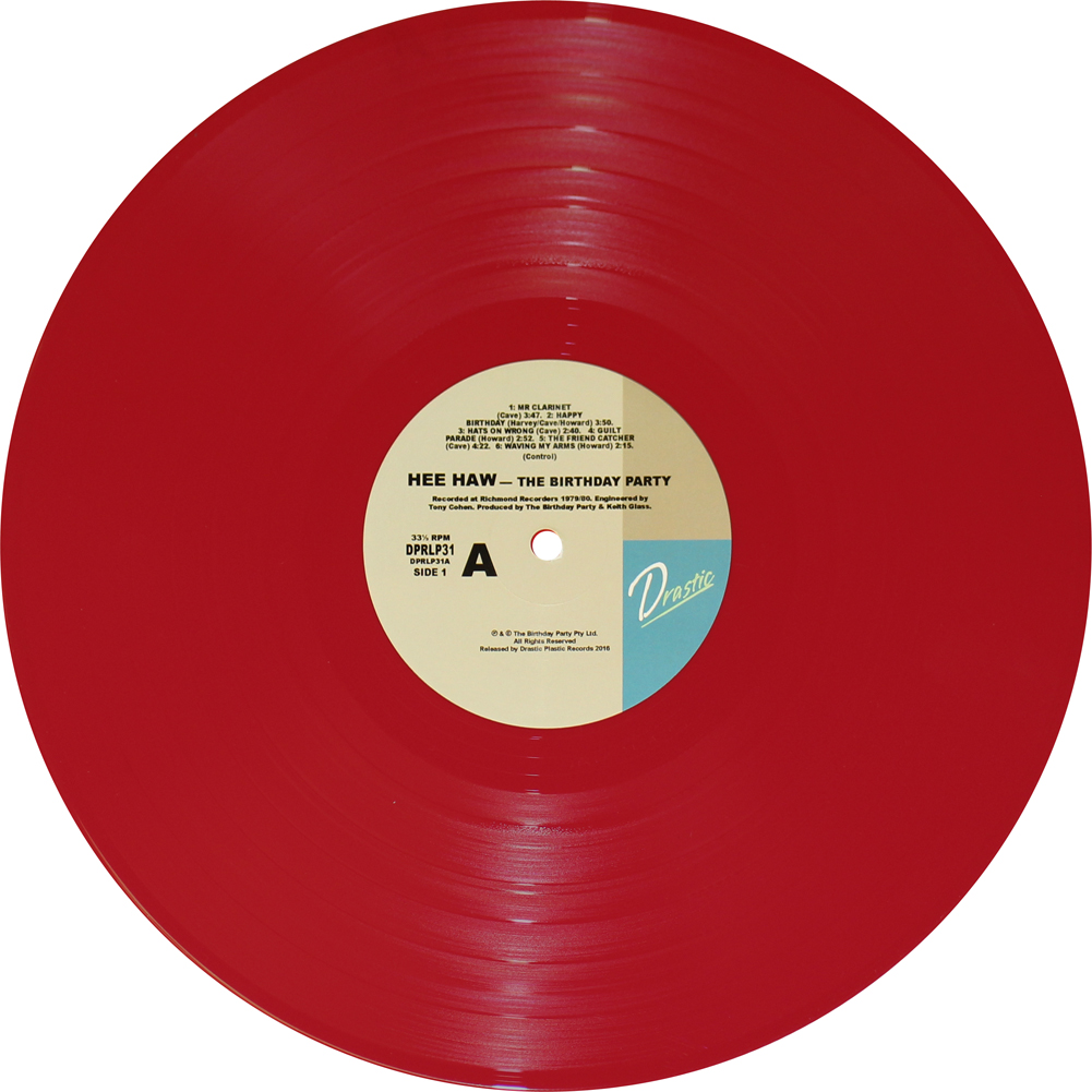 The Birthday Party Hee Haw 140 Gram Opaque Red Vinyl Or
