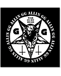 GG Allin - War In My Head printed patch