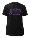 The Damned - Purple Logo fitted tee Limited Quantity