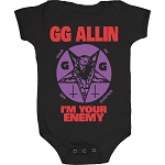 GG Allin - War In My Diaper Onesie