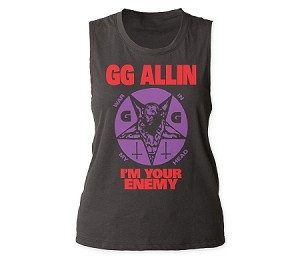 GG Allin I'm Your Enemy juniors muscle tank